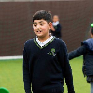 Boy playing sport